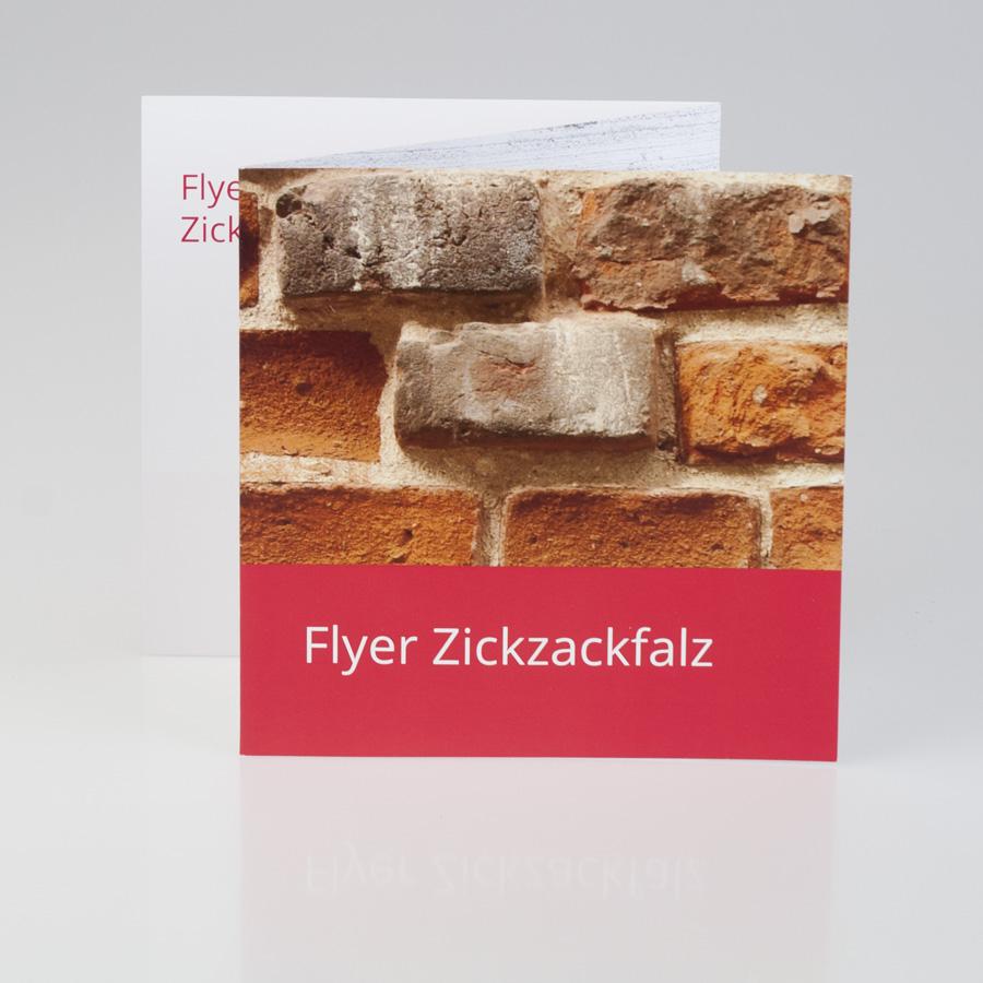 Flyer Zickzackfalz