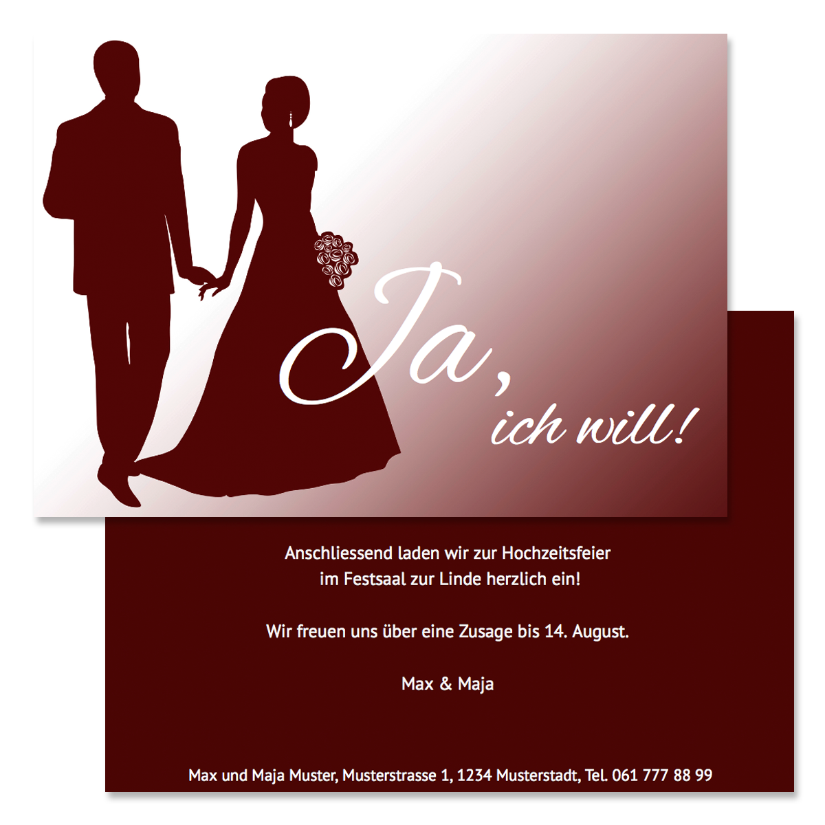 Wedding Cards – onlinedruck.ch – the simple way of ordering printed ...