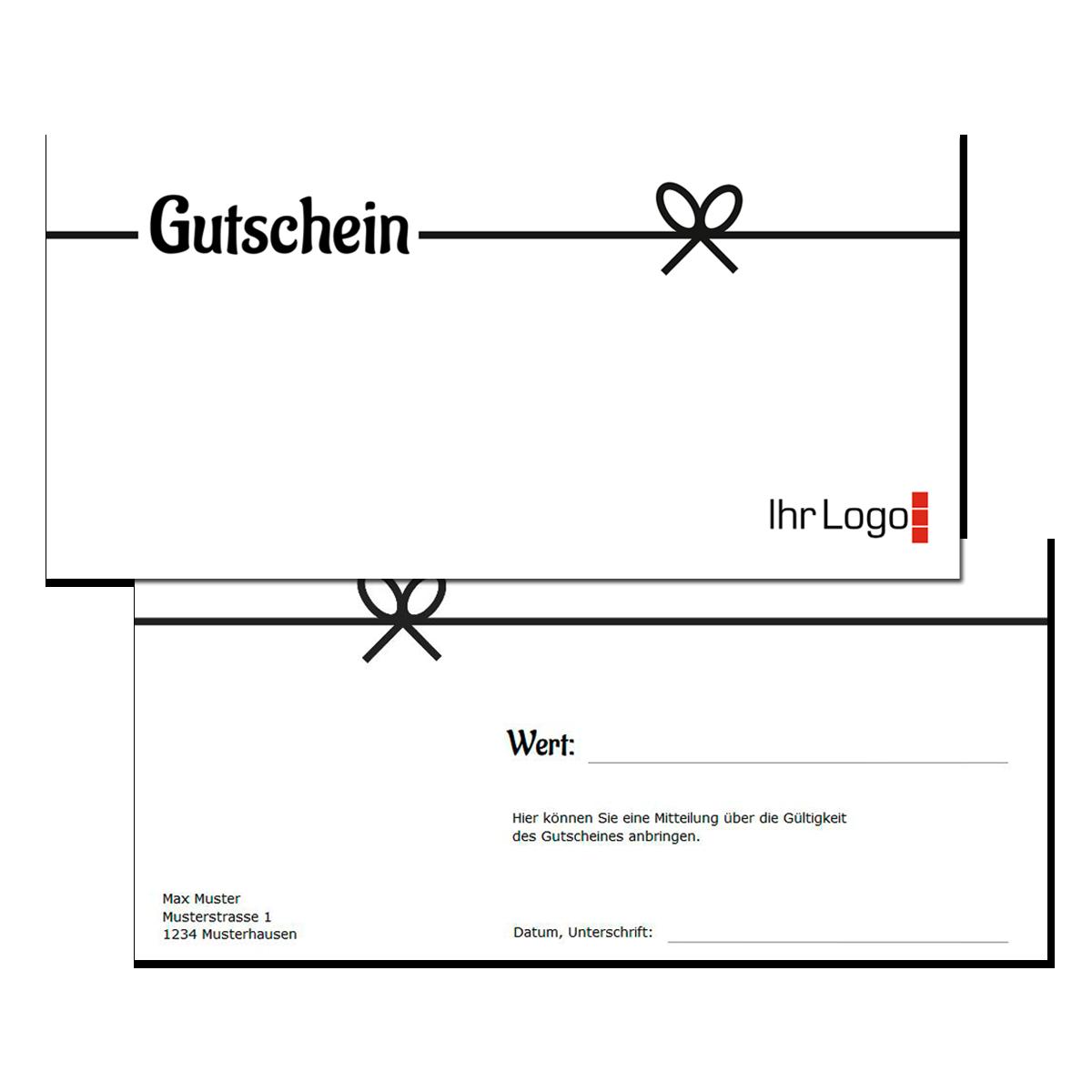 Gutschein Neutral Drucken Bei Onlinedruck Ch