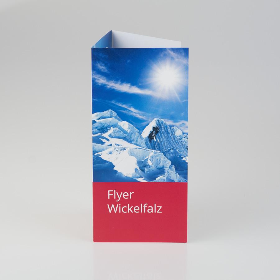 Flyer Wickelfalz