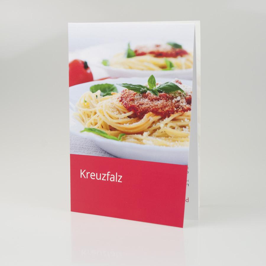 Flyer Kreuzfalz
