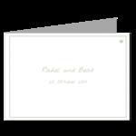 Einladung, grün, 4 Seiten