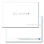 Save-the-Date, blue, 2-sided