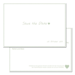 Save-the-Date, green, 2-sided