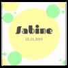 Geburtskarte Sabine / Fabio